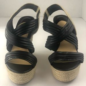 Gianni Bini Shoes - Gianni Bini Women's Black Wedge Sandals